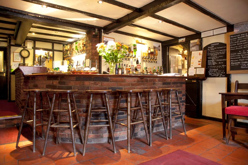The Blue Boar Bar Area