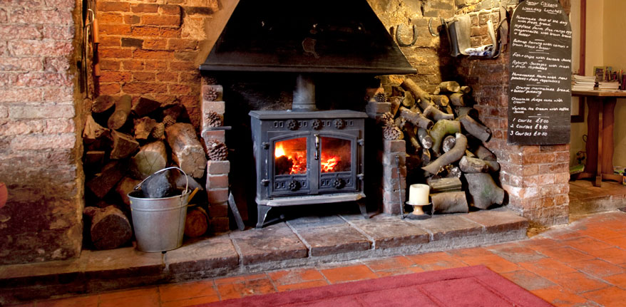 Fire place at The Blue Boar Inn
